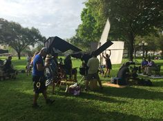 Mike McCourt shooting in St. Pete, Florida with NFL Hall of Famer Derrick Brooks.