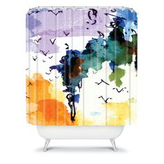 DENY Designs Home Accessories | Ginette Fine Art Birds In The Spanish Moss Shower Curtain