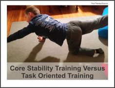 core stability versus task oriented training approach for children with #DCD #pediPT #pediOT