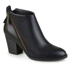 Women's Journee Collection Bristol Zippered High Heeled Booties