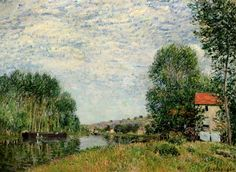 Alfred Sisley - The Banks of the Loing at Moret