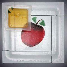 Beames Designs Square Apple and Honey Dish, Artistic Artisan Designer Judaica