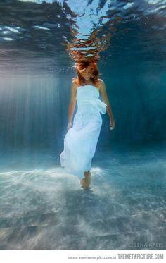 Underwater…
