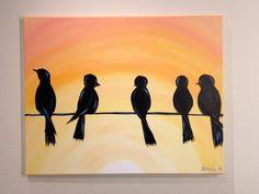 "Original Canvas Art- ""Morning Meeting"""
