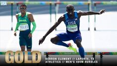U.S. Olympic Team @TeamUSA  Aug 18 #GOLD for Kerron Clement!  That's THREE medals in THREE #Olympics!