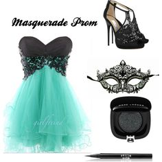 Masquerade Prom. Wish I can wear this outifit.