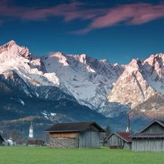 The beautiful Alps in Garmisch-Partenkirchen in Bavaria Germany