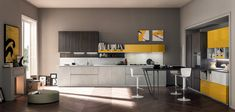 Volumia: a new, dynamic, original, timeless kitchen system, a new language for dialogue with a space fundamental for today's quality of life in the kitchen. Click the Pin and discover more!