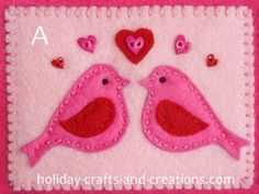 Crafts ~ an easy to follow tutorial for a banner that can be used for various craft ideas ... like these birdie templates