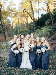 Blue bridesmaid dresses - The WaldronPhotography