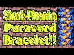 ▶ How To Make A Paracord Shark Jaw Bone-Piranha Knot Bracelet - YouTube