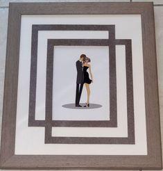 des amoureux avec un double encadrement trouvé sur le blog de l'atelier de catherine