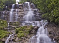 Love this, seen it a hundred times, way more beautiful in person. It is 5 minutes from my mom. Amicalola Falls.