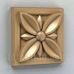 3D model for CNC routers and 3D printers (art. Square rosette 002)