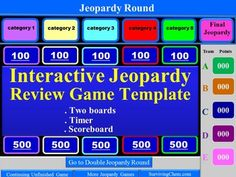 Christmas Jeopardy Interactive Game Template For Holly Jolly Fun