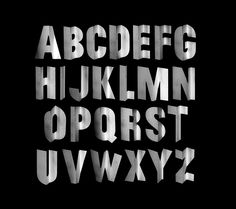 Jessica Svendsen. Typeface created by projecting on a corner surface.