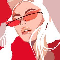The illustrator hotlist 2018 Portrait Illustration, Graphic Illustration, Simple Illustration, Art Sketches, Art Drawings, Pop Art Drawing, Art Et Design, Illustrator, Art Watercolor