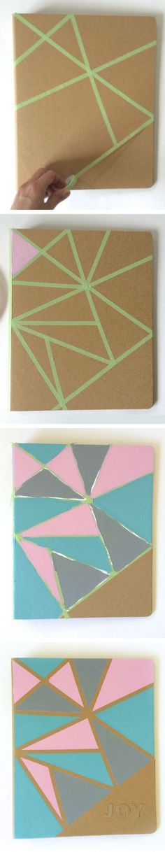 Decorate Notebooks With Washi Tape.