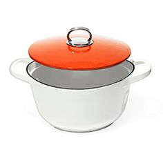 Bring meals from stove to table in style with this sleek, enameled cast-iron Dutch oven, exclusive to J.C. Penney from architect and product designer Michael Graves.