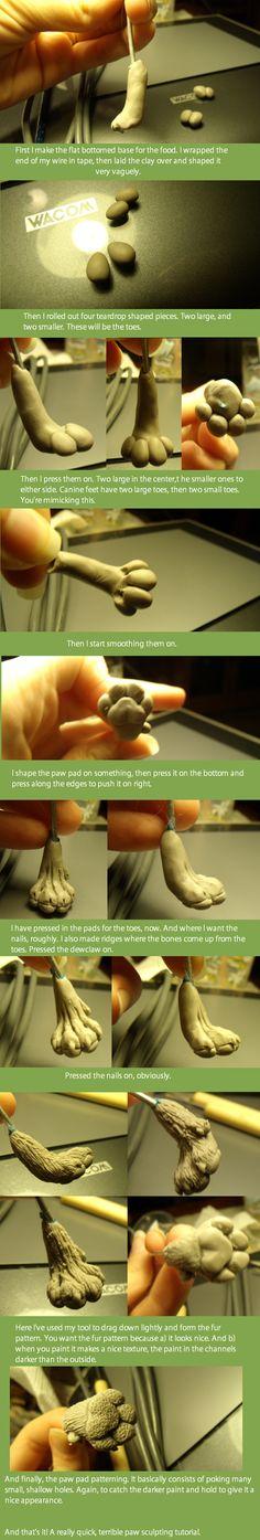 Canine Paw Tutorial. by Khrests.deviantart.com on @deviantART