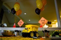 Construction-themed birthday party