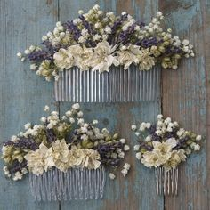 Lavender Twist Baby's Breath Hair Comb