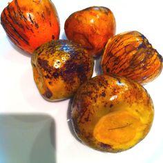 fruits of the world:Panama's Pixbae or pifá.(pejibaye, chontaduro, pee-wah, PEACH-PALM, etc) ..so so good!