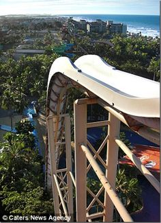 World's tallest and scariest water slide  in Brazil