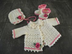 Ravelry: Project Gallery for Picot and Lace Sweater Set - Sweater pattern by Abigail Goss