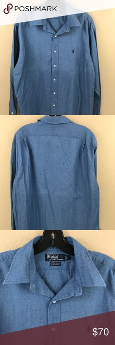 Polo Ralph Lauren Lowell sport chambray button up Great condition no flaws Polo by Ralph Lauren Shirts