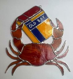 Baltimore's Favorite Crab and Old Bay Suncatcher by ScrapCrafters, $40.00