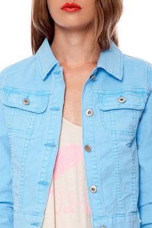 Crop Colored Denim Jacket | FOREVER21 - 2000035752 | homecoming ...
