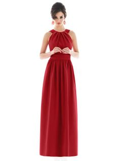 peau de soie in garnet: I know red wasn't really an option but I thought this dress was pretty in this color....maybe they have other colors?