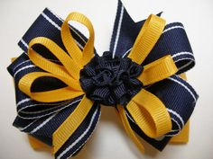 Hey, I found this really awesome Etsy listing at https://www.etsy.com/listing/105352965/back-to-school-uniform-hair-bow-dark