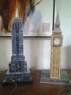 De beroemde gebouwen in het mini
