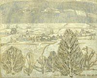 Gentle Snowfall by David Milne, Canadian artist Canadian Painters, Canadian Artists, David Milne, Tom Thomson, Drawing Prompt, Inuit Art, Winter Landscape, Oeuvre D'art, American Art