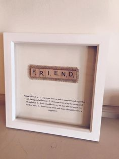 printed--Dictionary Definition Box Frame by MadeWithLoveNiaCeri on Etsy Scrabble Tile Crafts, Scrabble Art, Scrabble Letters, Homemade Christmas Gifts, Homemade Gifts, Hobbies And Crafts, Fun Crafts, Craft Gifts, Diy Gifts