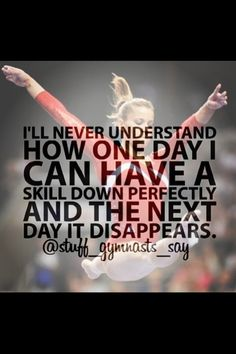 I know that it says (stuff that gymnasts say) but it is also what dancers say!!!