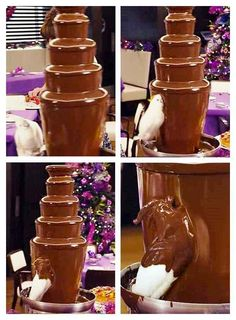 This bird eating a chocolate fountain: | 25 Photos You Definitely Need To See Before You Die