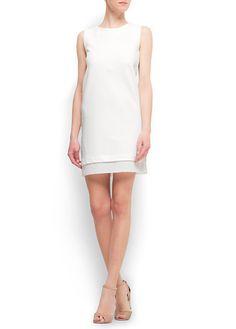 Two layered cotton dress