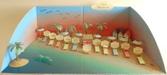 """3d table plan, """"Beaches of the world"""" model, entire scenery"""
