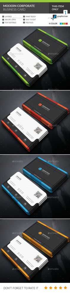 Modern Corporate Business Card Template PSD. Download here: http://graphicriver.net/item/modern-corporate-business-card-/15987230?ref=ksioks