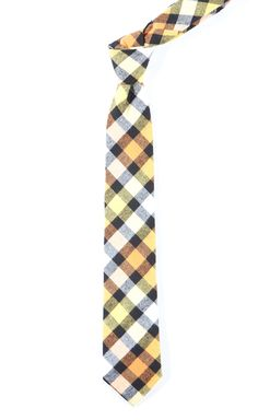 BIG TABLE PLAID - Yellow | Ties, Bow Ties, and Pocket Squares | The Tie Bar