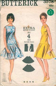 Sewing Patterns: Women's: Dresses: 1960s: Butterick