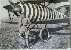 German pilot von Eberhard Seel & plane Albatros D. V