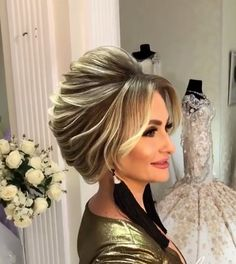 33 Fancy Hairstyles for 2019 That'll Make You Look Like a Million Bucks - Style My Hairs Older Women Hairstyles, Trending Hairstyles, Unique Hairstyles, Up Hairstyles, Braided Hairstyles, Amazing Hairstyles, Long Curly Hair, Curly Hair Styles, Hair Upstyles
