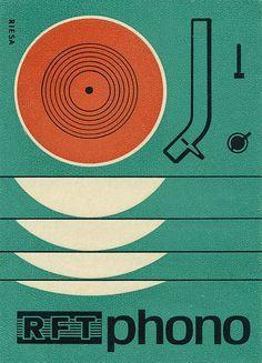Vintage German matchbox label