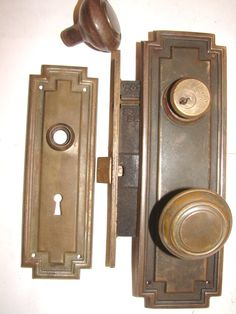 Art Deco door hardware | click to enlarge item # deco dks15 art deco door knobs 2 knobs 2 3 16 ...