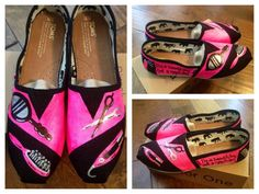 Hand Painted Hair Stylist TOMS Shoes Womens Size by ruelledesigns, $95.00