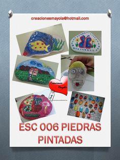 RECICLADO, PIEDRAS, PINTAR PIEDRAS, http://creacionesmayola.blogspot.com.es/